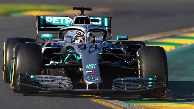 Hamilton dominates practice as Mercedes lay down marker