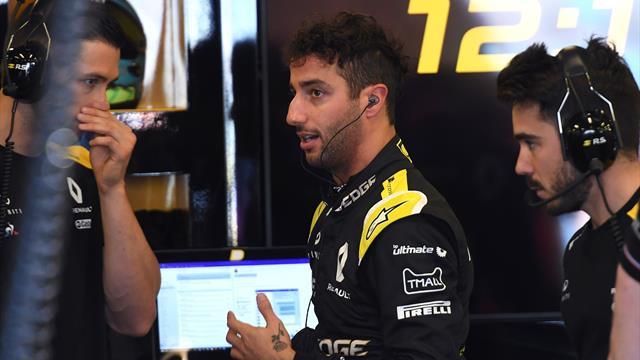 Ricciardo découvre encore la Renault