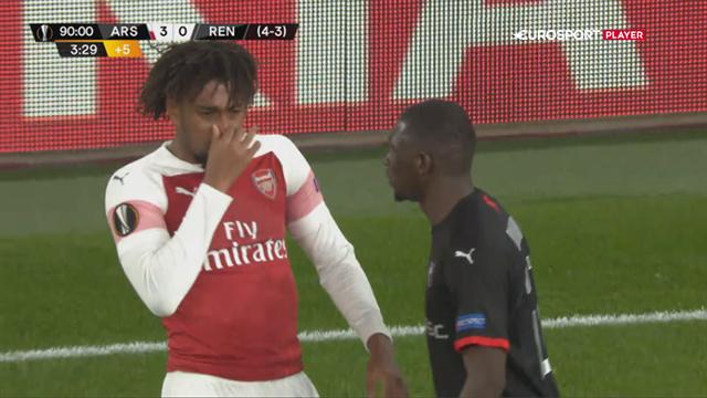 Puha! Iwobi langt fra tilfreds med ånden hos Rennes-spiller