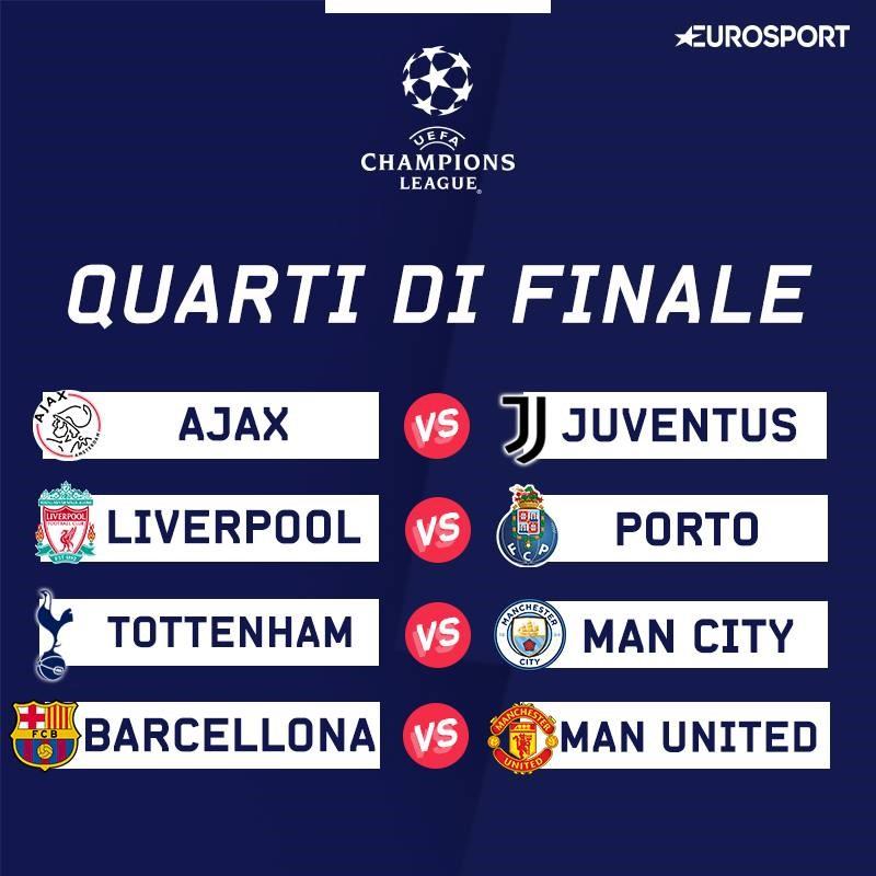 Calendario Quarti Di Finale Champions League.Buon Sorteggio Per La Juventus Pescato L Ajax Eventuale