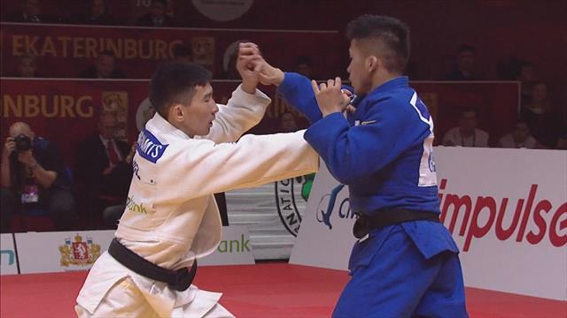 Mongolia's Lkhagvajamts wins -60 kg gold medal