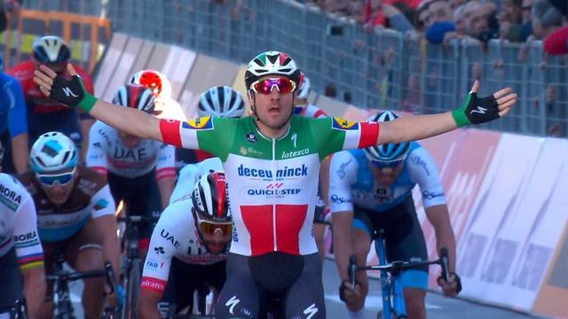 Viviani holds off Sagan to claim stage three win