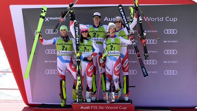 Switzerland break record with dramatic alpine team event triumph