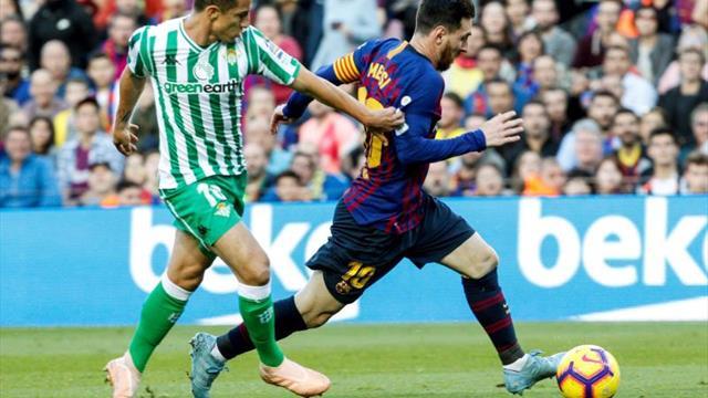 El Betis no gana al Barcelona en Liga en el Villamarín desde hace once años