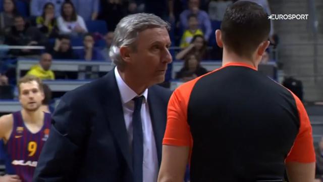 La gara di coach Pesic finisce subito: espulso dopo un minuto di Fenerbahce-Barcellona