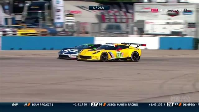 1.000 Millas de Sebring: Brutal adelantamiento de Antonio García con el Corvette