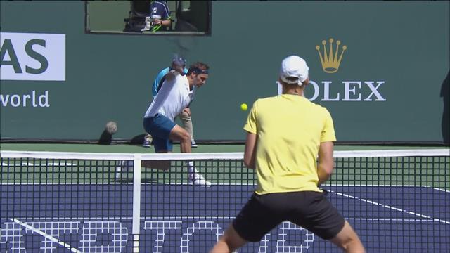 Défense de fer et smash pour finir : Federer a mis le feu à Indian Wells
