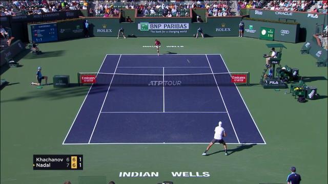 Indian Wells - Nadal élimine Khachanov et rejoint Federer en demie