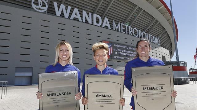 Amanda, Meseguer y Sosa ya tienen su placa en el Wanda Metropolitano