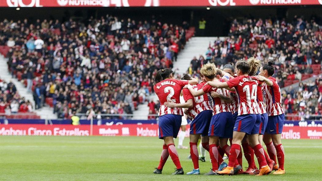 Orgullo atlético en el Metropolitano  Récord mundial de asistencia a un partido  de fútbol femenino - Fútbol - Eurosport Espana 8e1a4cb2f835d