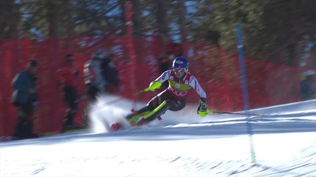 Shiffrin in second after opening run in Soldeu