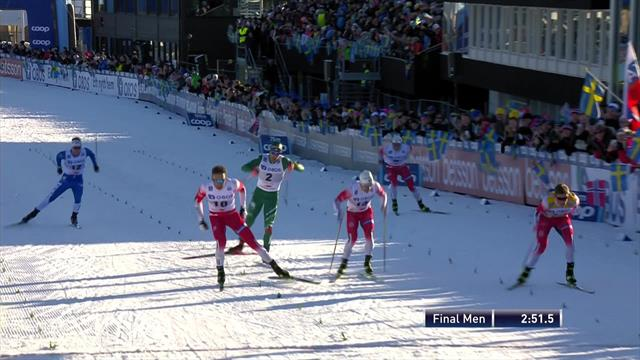 Klaebo claims World Cup sprint win in Falun