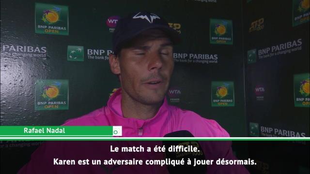 Nadal : ''J'espère être à 100% face à Roger''
