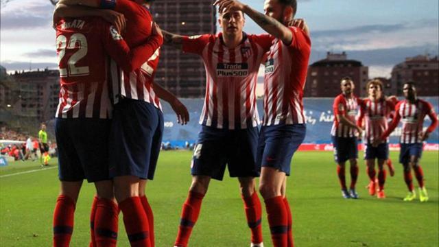 Ibai, titular en el Athletic; Simeone con 3 arriba: Griezmann, Costa y Morata