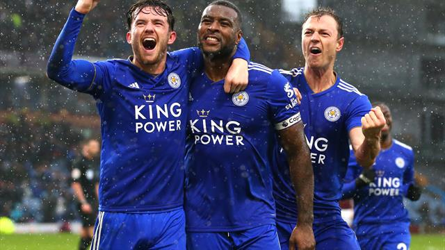 Late Morgan header earns 10-man Leicester win at Burnley
