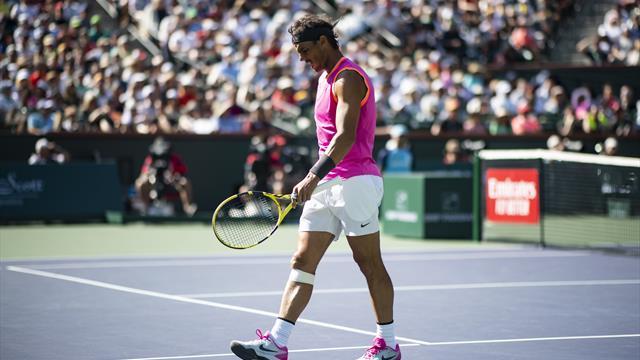 🚑 Nadal se retira de Indian Wells por molestias en la rodilla y no jugará ante Federer