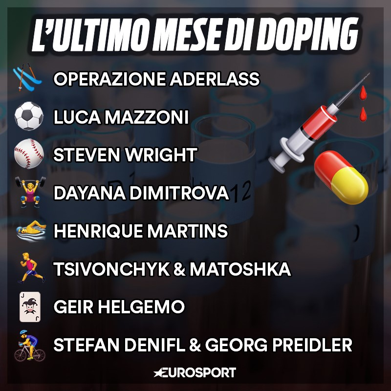 L'ultimo mese di doping tra febbraio e marzo