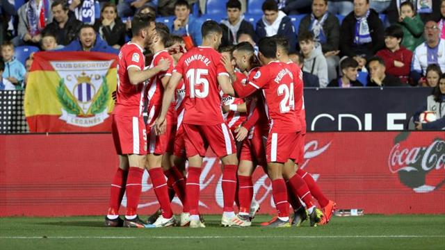 0-2. El Girona abre una puerta en la fortaleza de Butarque