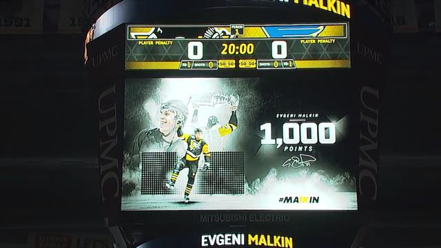 «Питтсбург» устроил пышное празднество по случаю 1000-го очка Евгения Малкина