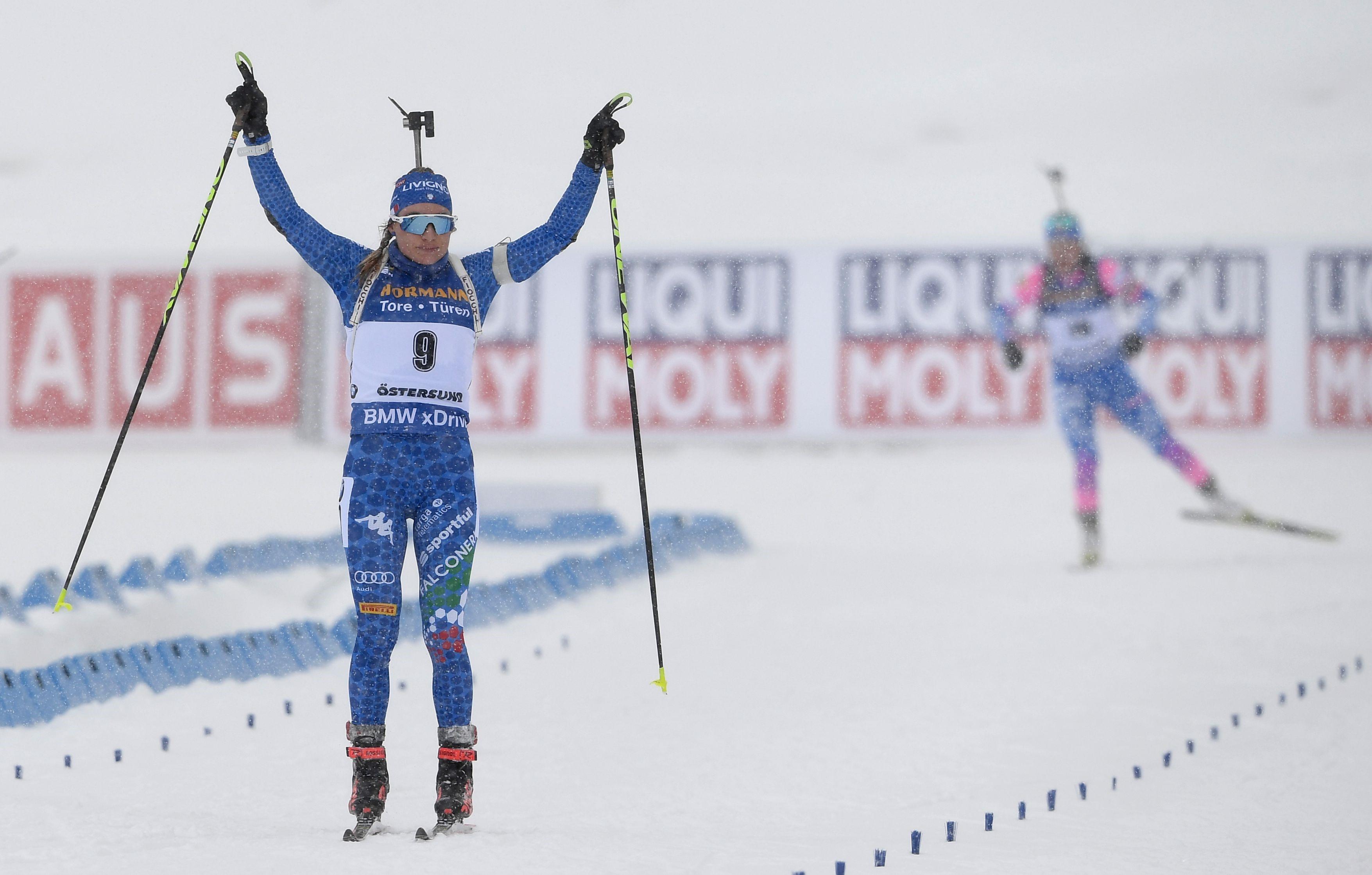 Dorothea Wierer remporte la mass start des Championnats du monde le 17 mars 2019