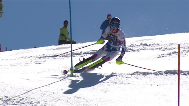 See how Clement Noel claimed slalom crown in Soldeu