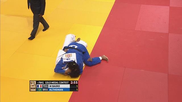 Judo Ekaterinburgo: La brasileña Altheman, oro en +78kg