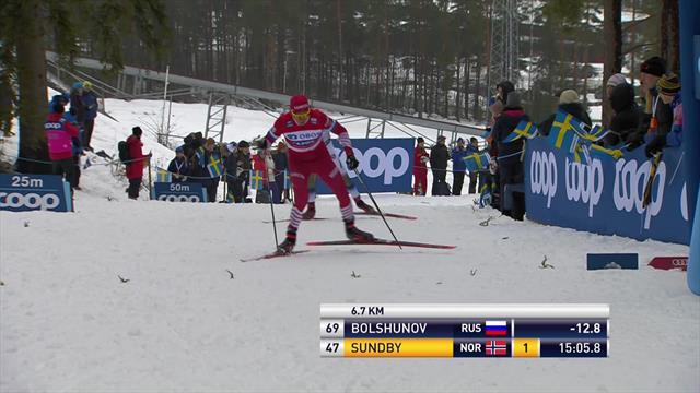 Highlights - Bolshunov closes gap on Klaebo ahead of World Cup finals