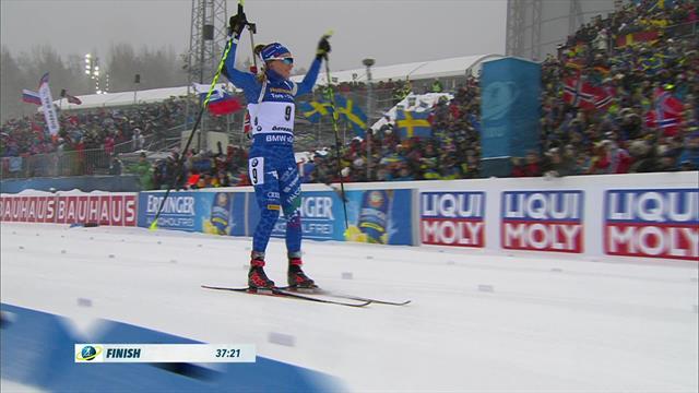 Dorothea Wierer medaglia d'oro! Gli highlights del successo nella Mass Start femminile di Ostersund