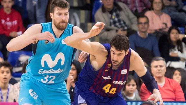 Liga ACB, Barcelona-Estudiantes: Remontada para seguir líder antes del Clásico decisivo (90-76)