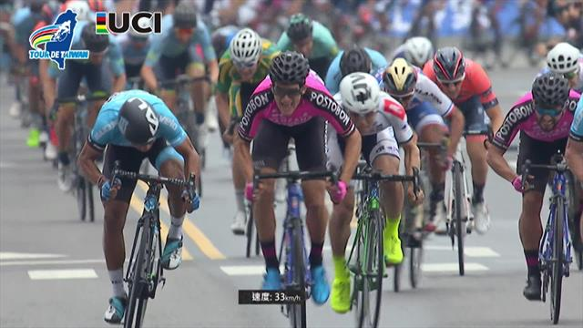 Tour de Taiwán 2019 (1ª etapa): Bryan Gómez gana el primer esprint