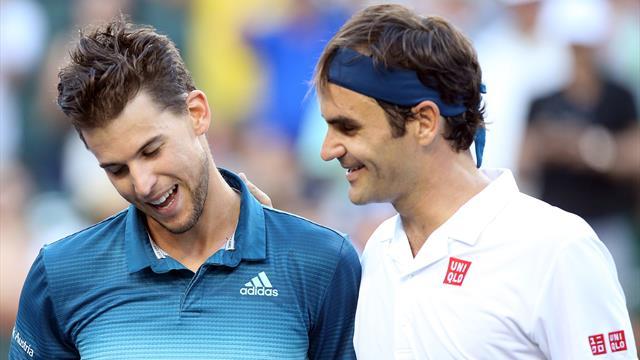"""Pour Federer, affronter Thiem d'entrée, c'est """"comme un premier tour... et une finale"""""""