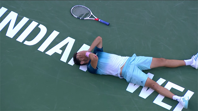 Федерер час издевался над Тимом, но потом бензин закончился и австриец взял «Мастерс»