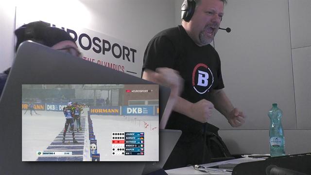 Dominik Windisch medaglia d'oro! I telecronisti di Eurosport impazziscono di gioia