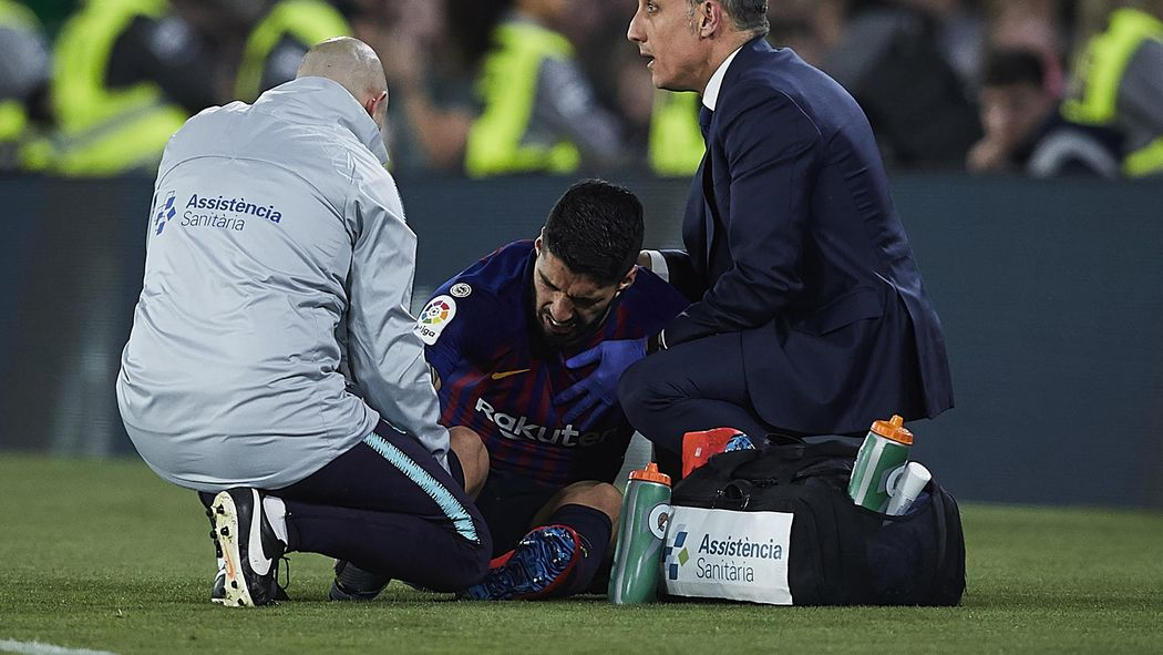 Image result for Luis Suarez Out 10-15 Days for Barcelona with Sprained Ankle Injury