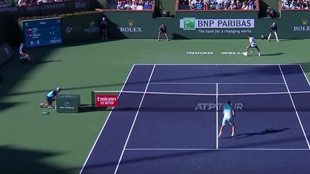 Lob, Stop, Tweener: Thiem jagt Federer in grandiosem Ballwechsel über den Platz