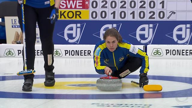 Sweden show their class to beat Korea in Women's Curling Championship