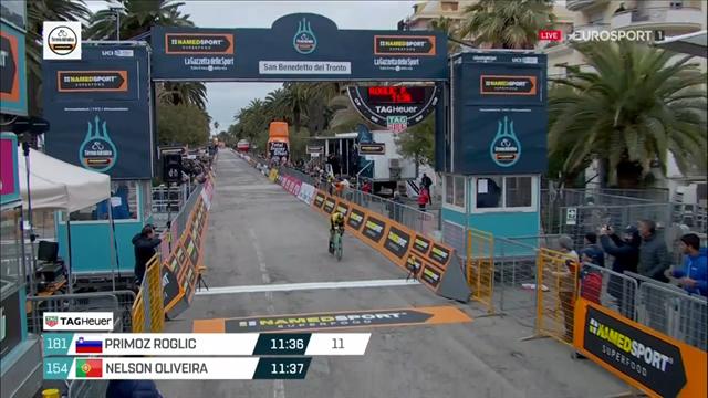 Tirreno-Adriatico | Campenaerts wint tijdrit, Roglic pakt eindzege op 1 seconde