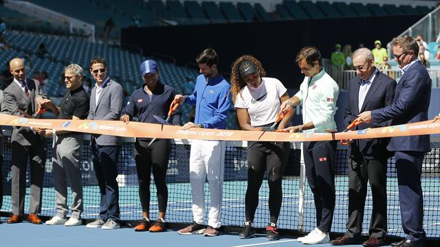 Federer, Djokovic y Serena inauguran oficialmente las nuevas instalaciones del Hard Rock Stadium