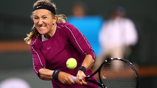 Azarenka upsets Kerber in Monterrey to reach first final in three years