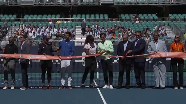 Federer, Serena and other tennis legends help open new Miami court