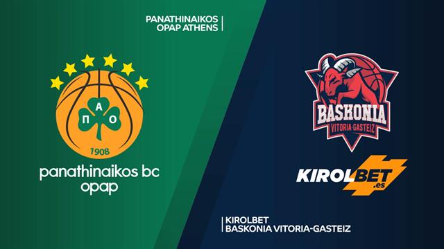 Highlights: Panathinaikos OPAP-Kirolbet Baskonia 72-70