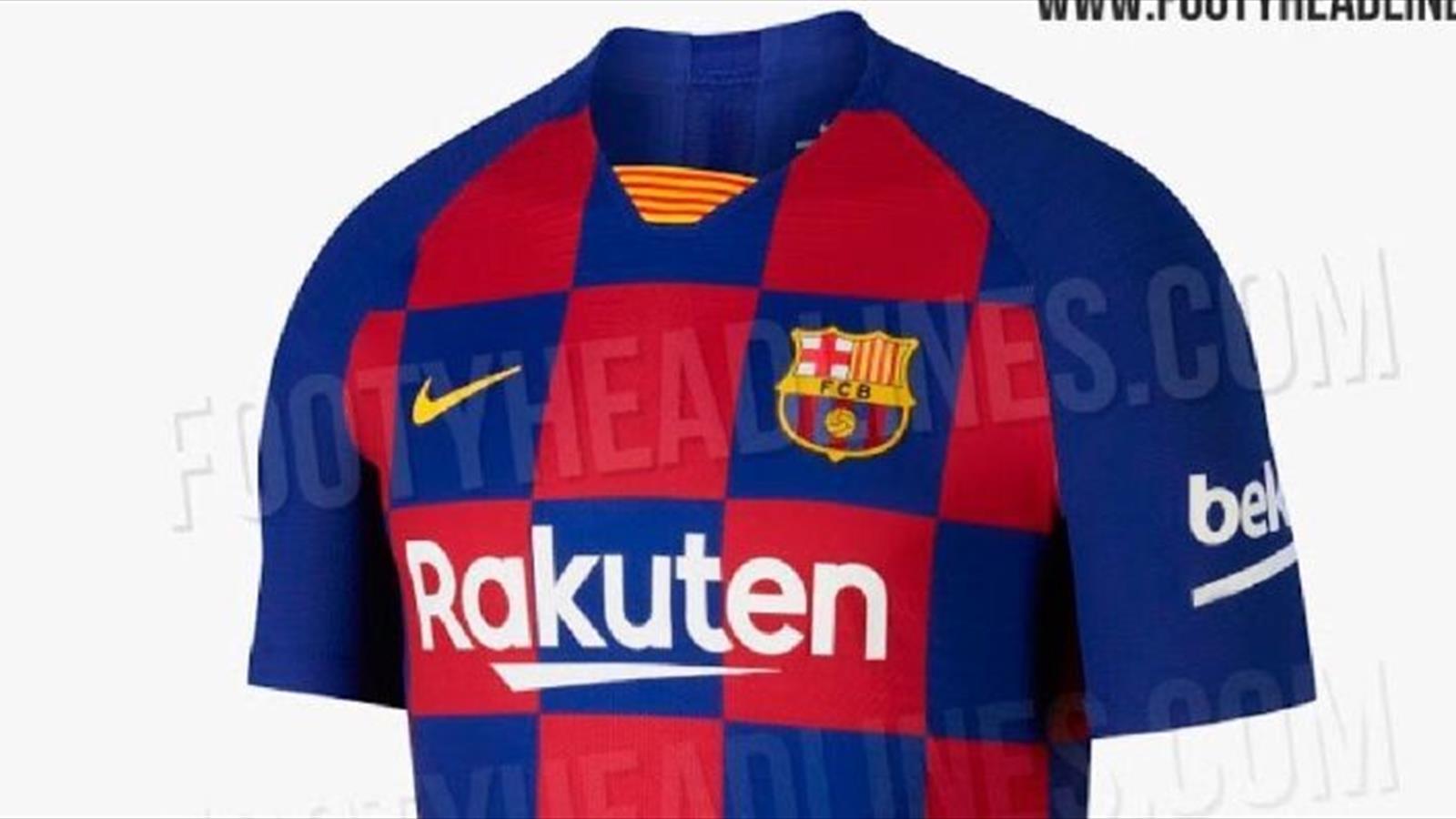 ca2515715fbe La nueva camiseta del Barça cambia las rayas verticales por cuadrados