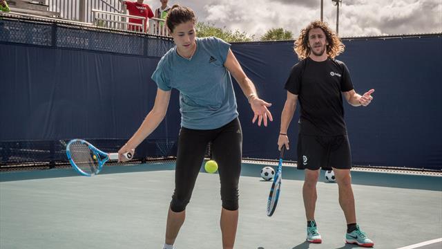Miami 2019: Muguruza y Puyol se retan al tenis antes del debut de Garbiñe