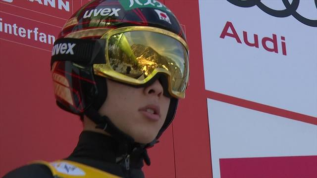Kobayashi's winning jump in Planica