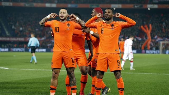 Depay stars as Netherlands rout Belarus