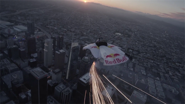 Meteor? Nope! Wingsuit jumper stuns Los Angeles