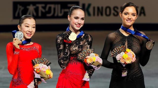 Zagitova logra la triple corona con 16 años, Tursynbaeva el primer cuádruple