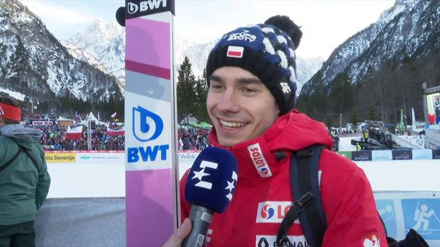 Wolny's longest leap helps Poland to ski jumping World Cup glory