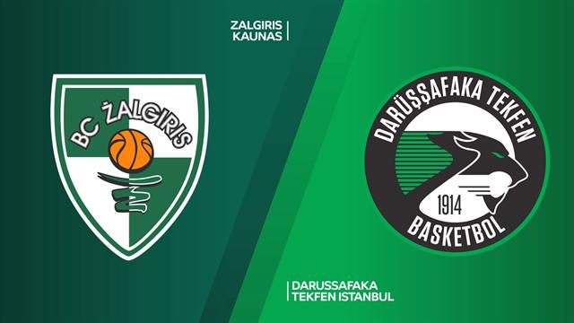 Highlights: Zalgiris Kaunas-Darussafaka Tekfen 94-67