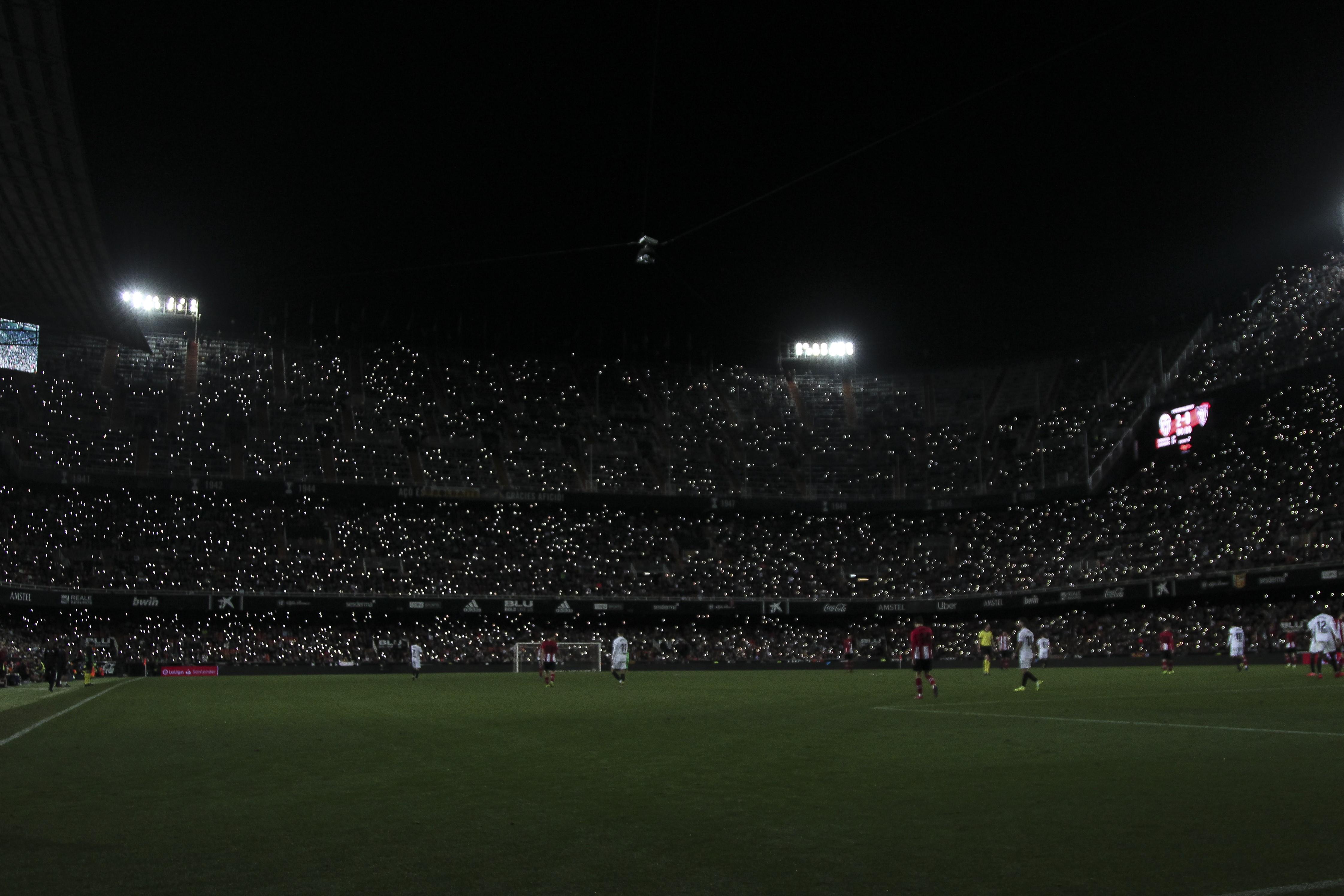 Le stade Mestalla à Valence